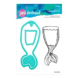 Jane Davenport Artomology Collection - Mermaid Tail Swatch Stamps and Die Set